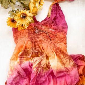 Tie-dye summer nights dress